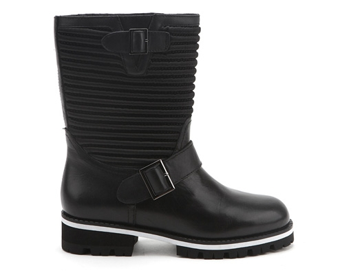 Biker Boot Black+White